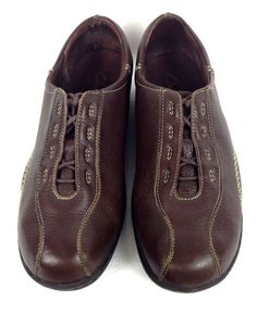 Clarks Shoes Womens Brown Leather Oxfords 10 #Clarks #Oxfords #WalkingHiking