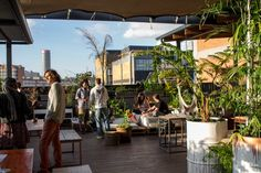 Enjoy A Sundowner On The Rooftop Venue Living Room In