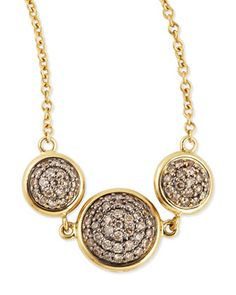 Chakra Reversible Black/Champagne Diamond Necklace by Syna at Neiman Marcus.