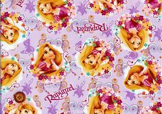 Disney Fabric Princess Rapunzel 50 cm by 106 by beautifulwork