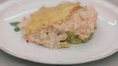 Recepten - Ovenschotel met roze zalm en broccolistoemp