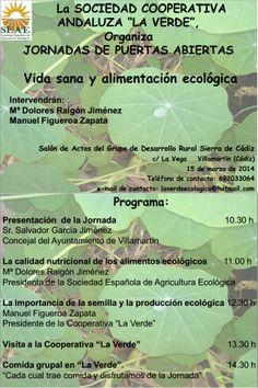 JORNADA: VIDA SANA Y ALIMENTACIÓN ECOLÓGICA ecoagricultor.com