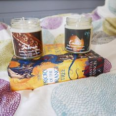 The Priory of the Orange Tree Bookish Candle Collection And Just Like That, Rose Water, Orange Blossom, Root Beer, Soy Candles, Friends In Love, Books, Etsy, Libros