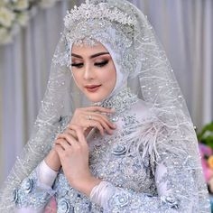 Pinned By Pinogram Hijabi Wedding, Muslimah Wedding Dress, Disney Wedding Dresses, Muslim Brides, Wedding Dresses For Girls, Pakistani Wedding Dresses, Wedding Poses, Muslim Couples, Wedding Ideas