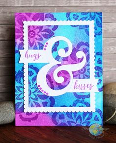 """Hugs & Kisses Card by Allison Cope featuring """"And Sentiments"""", """"Wild Blooms"""" stamp sets from Catherine Pooler Designs"""