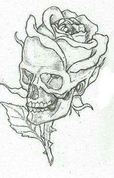 Rose Drawing Tattoo, Tattoo Design Drawings, Tattoo Sketches, Drawing Sketches, Drawing Ideas, Easy Sketches, Pencil Drawings, Tattoo Drawings Tumblr, Tattoo Designs