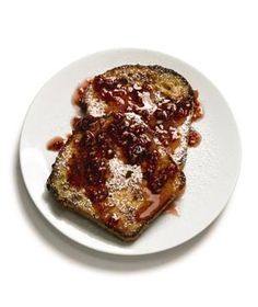 French Toast With Raspberry Syrup (Real Simple)