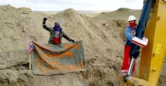 Water protectors battling the notorious Dakota Access Pipeline in North…