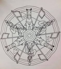 Coloring For Kids, Coloring Pages, Diy And Crafts, Crafts For Kids, School Decorations, Spring Crafts, Compass Tattoo, Art Lessons, Printables