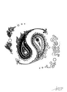 Ying Yang Paisley Tattoo   Paisley Yin Yang by MBeGG