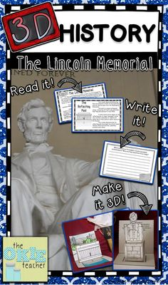 Great President's Day Project! Create a 3D Model of the Lincoln Memorial and Statue!