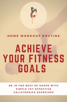 You Fitness, Fitness Goals, Health Fitness, Home Exercise Routines, At Home Workouts, Calisthenics Training, Office Exercise, Workout Guide, Body Weight