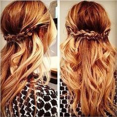 Love the boho chic hair!