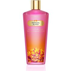 Victoria's Secret Sensual Blush Body Wash ($14) ❤ liked on Polyvore featuring beauty products, bath & body products, beauty, makeup, neveah daniles, perfume, pink, victoria's secret and victoria secret perfume