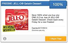 FREE Box of JELL-O Gelatin Dessert