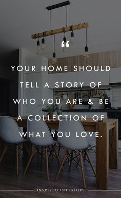 Your home should tell a story of who you are & be a collection of what you love   Follow Inspired Interiors for more design inspiration, design quotes, and creative luxury interior design. Quotes about design. #interiordesign #luxurydesign #designinspiration Interior Design Instagram, Interior Design Quotes, Luxury Interior Design, Contemporary Interior, Interior Styling, Interior Architecture, Furniture Quotes, Home Decor Quotes, Frame Wall Decor
