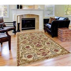 Bliss Rugs Hester Transitional Area Rug, Beige