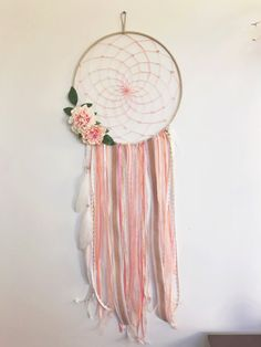 Hey, I found this really awesome Etsy listing at https://www.etsy.com/listing/273978480/extra-large-14-coral-dream-catcher-4