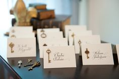 awesome #calligraphy place cards (Jan Boyd Calligraphy)