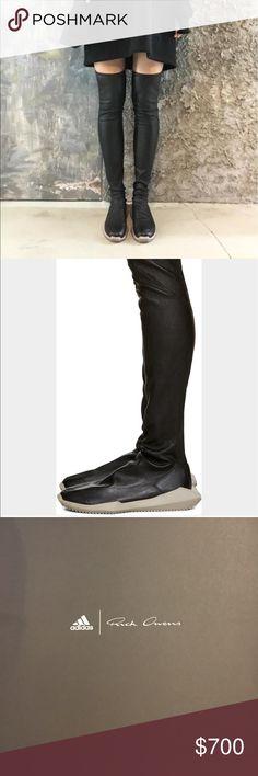 1e1a9bb01151f Rick Owens boots Rick Owens Adidas thigh high leather boots. 2 feet tall. 6