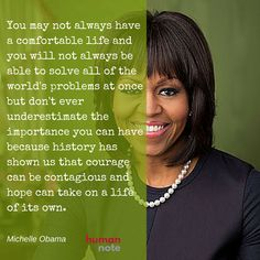 Advice from Michelle Obama.