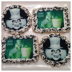 These 12 Hatbox Ghost cookies are available on Etsy and would be an impressive item on your Haunted Mansion Halloween Party buffet table.