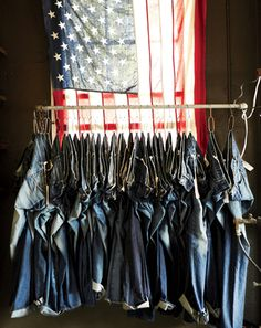 back light a flag?  Like the rack of denim.