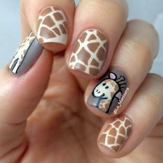 Giraffe nails - Instagram photo by @la_manisera (LaManisera [Steph])   Iconosquare