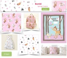 http://www.plushaddict.co.uk/all-fabric/quilting-fabric/by-collection/bambi.html For the love of cute! It's Bambi
