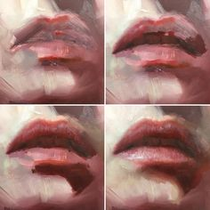New painting of studiomate @marine_edith_studio in the making 👄