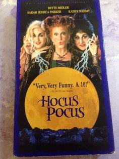 Hocus Pocus [VHS] Bette Midler, Sarah Jessica Parker, Kathy Najimy, Omri Katz,
