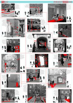 Europan 10 - Warsaw 'Ambient Kerb' - Competition Winning Entry produced in collaboration with MMASA Arquitectos, La Coruna, Spain Picture For Urbanism Architecture watercolor For Your TasteYou are looking for something, and it is going Model Architecture, Collage Architecture, Site Analysis Architecture, Architecture Design Concept, Architecture Presentation Board, Presentation Layout, Architecture Graphics, Architecture Drawings, Architecture Portfolio