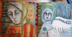 Poetic Portraits with Guest Artist Pam Carriker, Part 1: Jumpstart Your Art Journaling - Somerset Place: The Official Blog of Stampington & ...