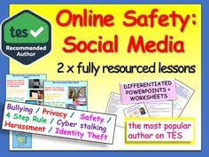 Social Media : Tutor Time Activities Safe Internet, Internet Safety, Social Media Safety, Time Activities, Identity Theft, Character Education, Ask For Help, Life Skills, Teacher Pay Teachers