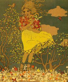Herta Zuckermann, Jugendstil-Druck. Um 1920