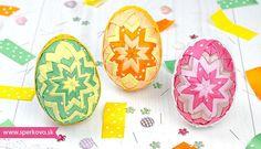 Falošný patchwork – vajíčka