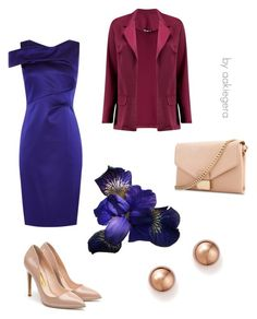 """Night flower"" by aakiegera on Polyvore featuring мода, Karen Millen, Rupert Sanderson, Whistles, Bloomingdale's и Boohoo"