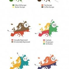 20 satirical ways to slice Europe up, exposing all of our stereotypes and prejudices.