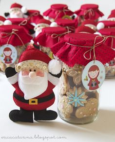 Que lindo este artesanato de Papai Noel !  CartinhaaoPapaiNoel.com.br