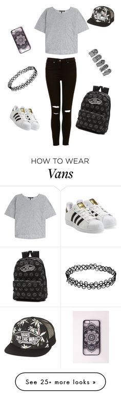 """by: Csilla"" by suranyi-zsanett on Polyvore featuring rag & bone, Vans and adidas Originals"