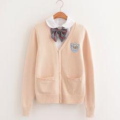 Harajuku Fashion, Kawaii Fashion, Cute Fashion, Kpop Fashion, Fashion Outfits, School Uniform Fashion, Pastel Fashion, Kawaii Clothes, Cotton Sweater