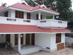 New Farmhouse Design Plans Front Elevation Ideas Flat House Design, Village House Design, Duplex House Design, Simple House Design, House Front Design, Indian Home Design, Kerala House Design, House Elevation, Front Elevation