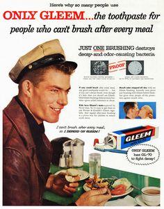 Gleem Toothpaste, April 1956
