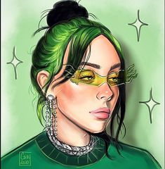 Just finished this drawing of Billie 💚 Billie Eilish, Celebrity Drawings, Drawings Of Celebrities, Cute Cartoon Wallpapers, Cat Drawing, Glee, Cartoon Art, Sketches, Fan Art