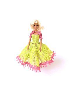 Robe boule poupée OOAK mode  jolie et élégante par RianasDollCloset