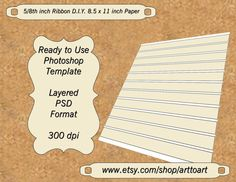 Make your OWN.  Have a constant supply  Digital TEMPLATE COLLAGE 5/8th ribbon PSD format Add by ArtToArt