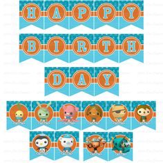 octonauts cupcake toppers octonauts party octonauts printable