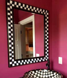 What a beautiful, whimsical focal point THIS mirror will be in your home. This customer was nice enough to send me a picture of it, in its new home - her powder room. It would look just as pretty in an entryway, dining area, great room or bedroom. This listing is for the mirror