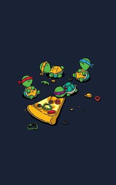 TMNT adorable drawing!!!!!!                  ❤️