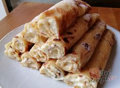 Healthy Cooking, Healthy Recipes, Hungarian Recipes, Hungarian Food, Apple Pie, Sweet Recipes, Ham, Deserts, Dairy